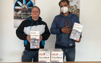 Private Spende: 500 Masken für Bedürftige